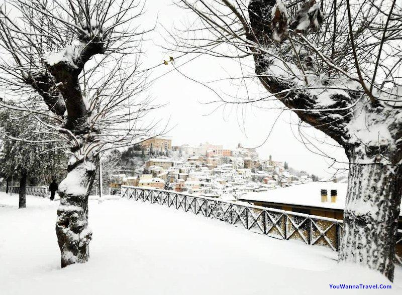 Snow in Loreto Aprutino
